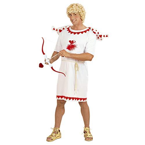 Herren-Kostüm Amor Gott der Liebe / Weiß-Rot in Größe M (50) / Engel-Kostüm Cupido für Männer / Geeignet zu Mottoparty & ()