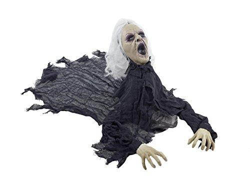 Halloween Zombie Greis Figur ca. 100 cm | knuellermarkt.de | Auferstehung Animation Deko Party gruselig
