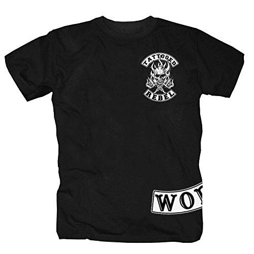 Tattoo Rebel World Shirt nero S