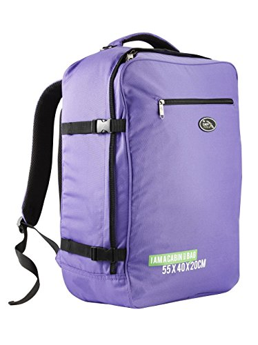 cabin-max-madrid-55x40x20cm-backpack-lightweight-carry-on-easyjet-and-ryanair-purple