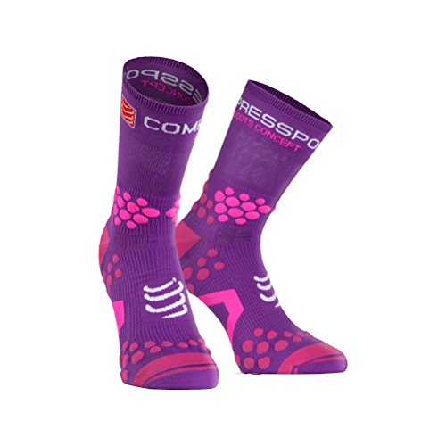 Compressport Racing Socks Trail V2.1 Calcetín, Unisex, Morado, 2