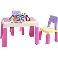 Preisvergleich für Ffion Schreibtische Kinderschreibtisch-Stuhl, Spiele, Die Plastiksatz (Rosa, Lernen) Schreiben