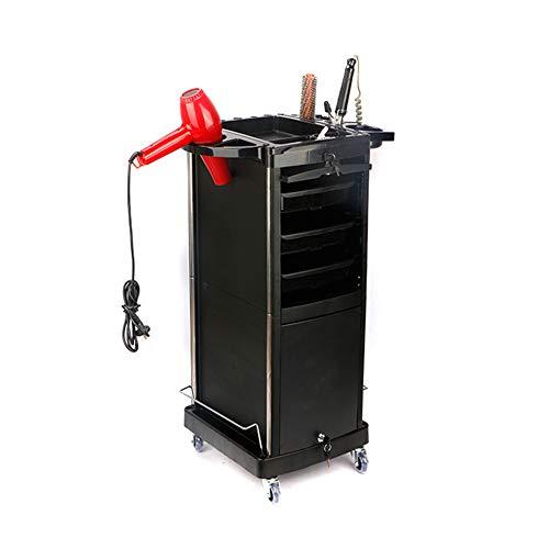 Salon Lockenstab (Salon Friseur Trolley Styling Werkzeug Doppeltür Mit Schloss Mehrere Schubladen Kann Willkürlich Matched (Schwarz))