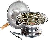 Fun Homes Aluminium Multi Purpose Oven, Gas Tandoor, Barbeque Griller/Bati/Pizza Maker Set of 1 Pc (Silver)