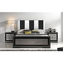SUENOSZZZ - Cabecero Ohio Líneas Verticales (Cama135) 145x57 cms. Color Blanco y Negro