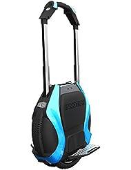 "Run & Roll Two Rabbits Blue Led - Monociclo eléctrico de doble rueda, color azul / negro, 14"""