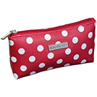 Audacity Red and White Polka Dot Cosmetic Purse Make-up Bag