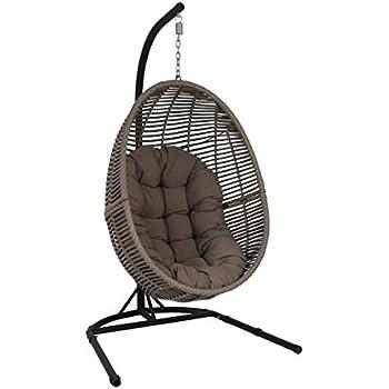 fauteuil uf suspendu gibraltar gris jardin. Black Bedroom Furniture Sets. Home Design Ideas
