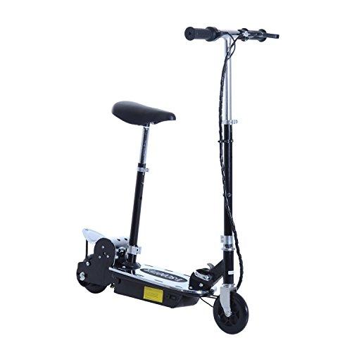 HOMCOM Patinete Eléctrico Scooter Plegable con Manillar y Asiento Ajustable Tipo Monopatín...