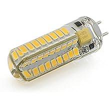 Tts GY6.35 bombilla de maíz LED 6W 72 SMD 2835 12V AC / DC proyector de silicona blanco / caliente , warm white , 2PCS