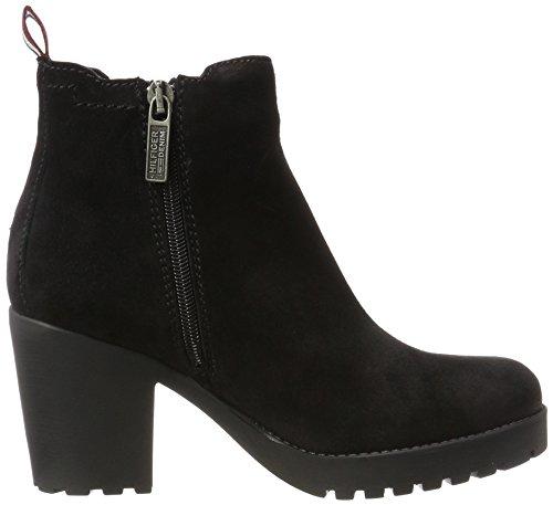 Tommy Jeans Damen B1385oo 1b Chelsea Boots Schwarz (nero)