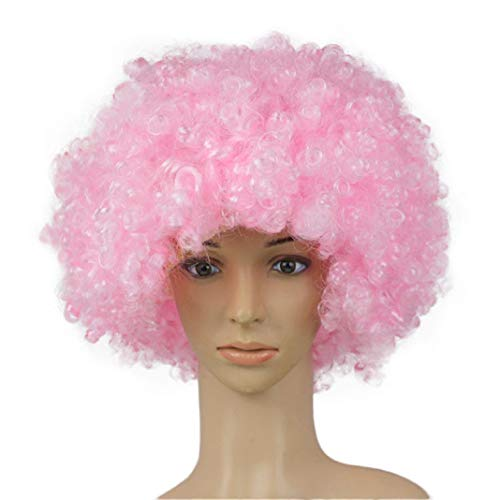 URSING Haar Perücke Party Disco Lustiger Afro Clownhaarperücke Fußball Fan-Erwachsene Afro Perücke Maskerade Perücke Afroperücke Partyperücke Clown Perücke für Clown Kostüm Party Props Dress Up (K)