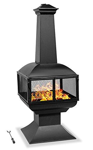 Centurion supporta Fireology Taurus moderno caminetto giardino e patio stufa braciere e barbecue