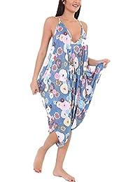 Gr/ö/ße 28-48 WearAll Lagenlook Strappy Ausgebeult Harem Jumpsuit Kleid Top Playsuit Cami 8 Farben