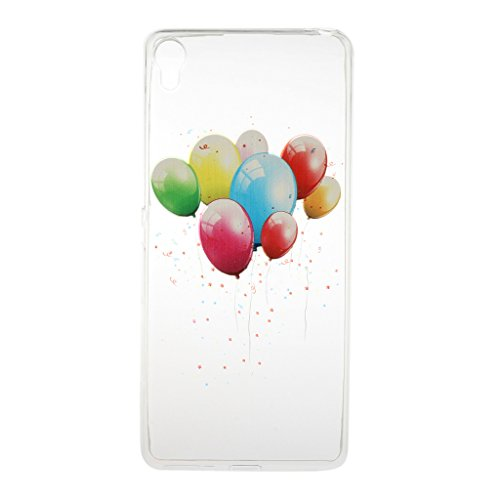 Sony Xperia E5 Hülle [Mit gehärtetem Glas-Bildschirmschutz], Grandoin (TM) modische flexible schöne Zeichnung aufgedruckte Muster-stoßabfangende-Gehäuse-Hülle, ausgezeichneter weicher Qualitäts-Silikon-Gummi Extra ultra dünnes buntes TPU Design-schützende Rückseiten-Abdeckungs-Hülle Ideal passend für Sony Xperia E5