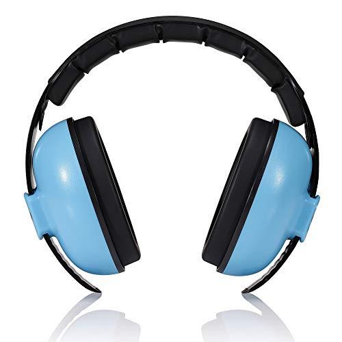 roynoy   Gehörschutz Baby 0-2 Jahre   Baby Ohrenschützer Lärm   Lärmschutz Baby   (blau) mit Aufbewahrungsbeutel