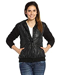 Campus Sutra Women Jackets-Black(AW15_JK_W_P8_BL_L)