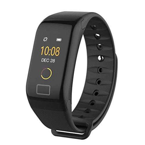 Smart Watch, ervl924 Fitness Sauerstoff Blutdruck Herzfrequenz Monitor Smart Watch Armband - Schwarz