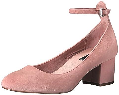 STEVEN by Steve Madden Women's Vassie Dress Pump, Pink Suede, 7.5 M US
