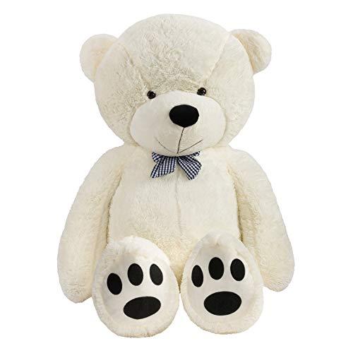 TEDBI Teddybär 220cm XXLGroß Teddy Kuscheltier Stofftier Plüschbär Plüschtier Teddi (Creme)