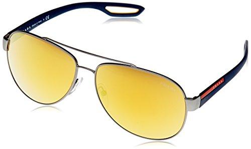 Prada Sport Herren PS55QS DG15N0 62 Sonnenbrille, Grau (Orange)
