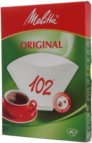 Confezione 40 filtri carta 102 melitta