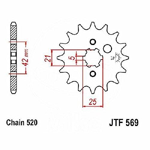 jtSprockets Pignone Yamaha DT 250 MX 12 denti 520 JTF569.12