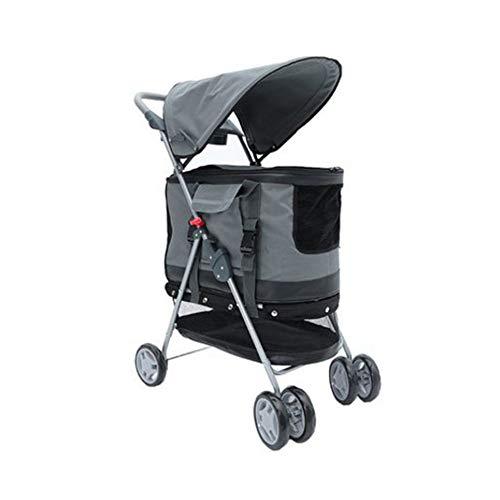 WMDD DREI-in-einem-Kinderwagen, einfach zusammenklappbarer, Abnehmbarer Tierkäfig, der zum Ausgehen geeignet ist-Grey