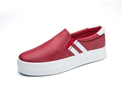 SHFANG Scarpe casual scarpe da donna scarpe classiche scarpe da sposa scarpe da sposa comode in scuole Shopping Black White Red
