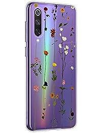 Suhctup Transparente Funda Compatible con Xiaomi Redmi A2 Lite,Cárcasa Silicona Ultra Fina Flor Diseño Anti-Arañazos Antigolpes Bumper TPU Resistente Case Cover para Xiaomi Redmi A2 Lite(6)