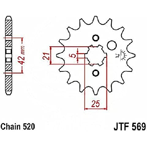 jtSprockets Pignone Yamaha DT 250 MX 10 denti 520 JTF569.10