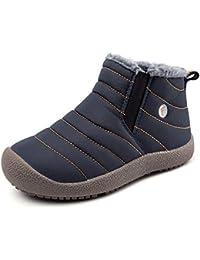 YIRUIYA Unisex-Kinder Winterschuhe Wasserdicht Boots Warm Gefüttert Stiefel Jungen & Mädchen