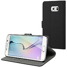 8c98b9858a4 Funda Wallet Folio Negra Función Soporte y Tarjetero Samsung Galaxy S6 Edge  Plus muvit