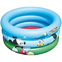 Bestway 91018 - Piscina hinchable para niños Disney Mickey and the Roadsters, 70 x 30