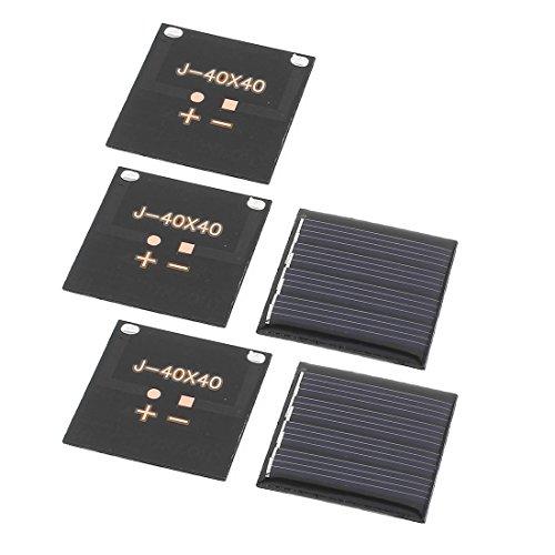 sourcingmap® 5Stück 2V 0.14W DIY Polycrystallinesilicon Sonnenkollektor Energien Zellen Ladegerät