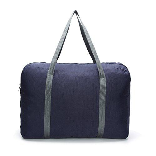 Reisen Tasche, Tezoo Faltbar Wasserdicht Ultra Weich mit Reißverschluss Große Kapazität Beutel Aufbewahrung-Tasche Handtasche Umhängetasche Rosa Dunkelblau