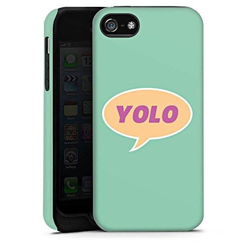 Apple iPhone X Silikon Hülle Case Schutzhülle YOLO Sprechblase Statement Tough Case matt
