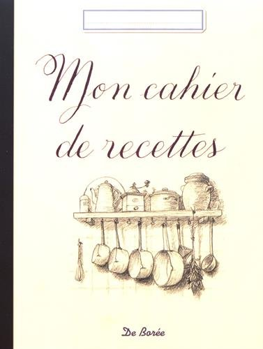Mon cahier de recettes