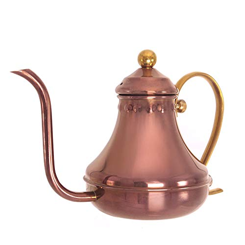 Pour Over Coffee Kettle Hand Drip Kettle, Edelstahl Pour Over Coffee Drip Kettle für Hand Drip Coffee 420ml/15oz für Drip Coffee and Tea. (Rose Gold)