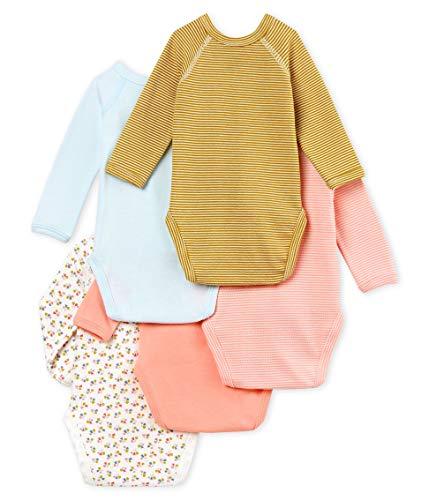 der Verkauf von Schuhen guter Service hohes Ansehen Petit Bateau Baby – Mädchen Formender Body Naissance ML_4909600, 5er Pack,  Mehrfarbig (Variante 1 00), 56 (Herstellergröße: 1M/54cm)