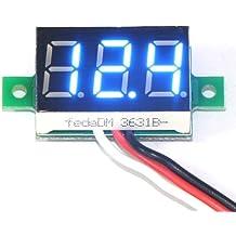 DROK® DC 0-99.9V Voltmetro Digitale Tensione Panel Meter LED Blu del Display Battery Monitor Potenza