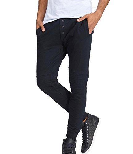 trueprodigy Casual Herren Marken Jogginghose einfarbig Basic, Sweathose cool und stylisch Vintage (Sportlich & Slim Fit), Chino Sweatpant für Männer in Farbe: Schwarz 6463102-2999-XXL
