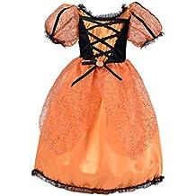 ZAMME Las niñas Princesa traje de fiesta Halloween Cosplay Dress Up