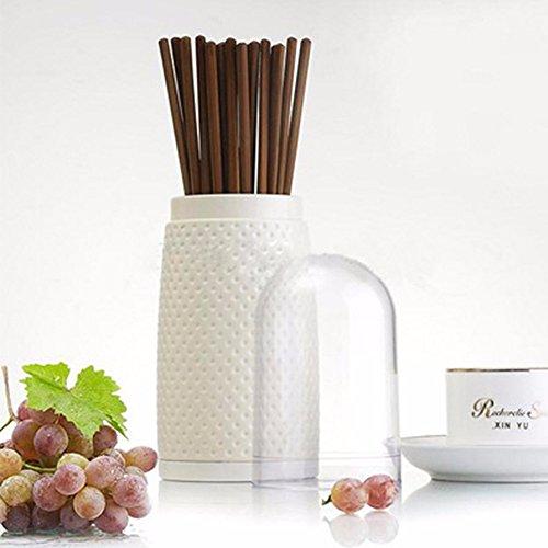 SSBY Plastica imbottita Bacchette Bacchette gabbia scatola con coperchio di scarico titolare chopstick cucina multifunzionale di storage per posate