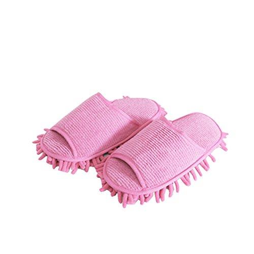 URIJK Staubmopp Hausschuhe Slipper Wischmop Bodenreiniger Waschbar Hausschuhe Schuhreinigung Fuß Schuhe Mop Putz Reinigung Schuh Slipper(1 Paar) (Bücken Handschuhe)