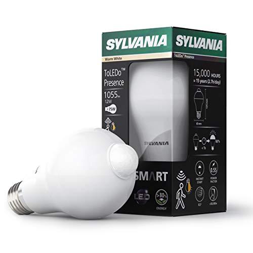 Sylvania LED Lampe PreSENCE - Glühbirne mit Bewegungsmelder und PIR Sensor, E27 (Glühbirne Sylvania)