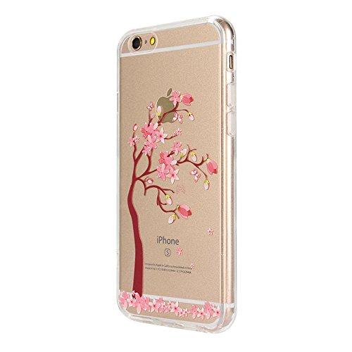 IPhone 6 Plus/6S, Vioela, motivo: fata dei fiori, design a farfalla, colore: trasparente-Con custodia rigida posteriore trasparente, Ultra sottile, in Silicone, per iPhone 6 Plus/6S, 11,94 cm (4,7) c - Flower Tree #2