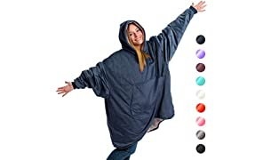The Original Comfy: Warm, Soft, Cozy Sherpa Blanket Sweatshirt, Seen on Shark Tank, Invented By 2 Brothers, Multiple Colors, For Adults & Children, Reversible, Hood & Large Pocket, One Size