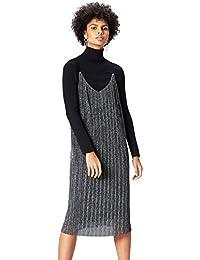 FIND Damen Abendkleider Plisse Cami