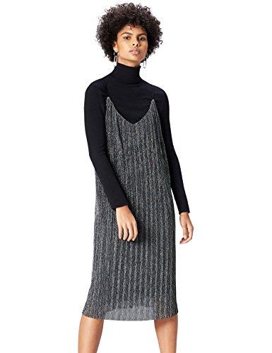 FIND 16779A vestido fiesta mujer, Plateado (Silber), 44 (Talla del Fabricante: X-Large)